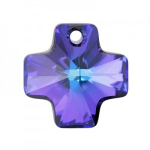 Swarovski 6866 Cross Pendant Crystal Heliotrope 20mm - 1τεμ
