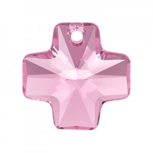 Swarovski 6866 Cross Pendant Light Rose 20mm - 1τεμ