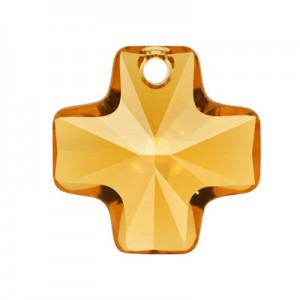 Swarovski 6866 Cross Pendant Topaz 20mm - 1τεμ