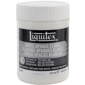 Liquitex White Opaque Flakes - 237ml