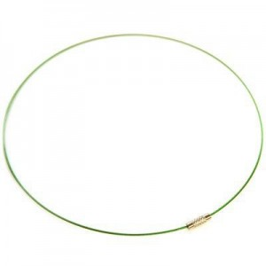 Λαιμαριά Steel Wire Ø1mm Green Ø14cm - 10τεμ