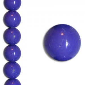 Χάντρα Glass Pearl Party Blue Violet 6mm ~29τεμ