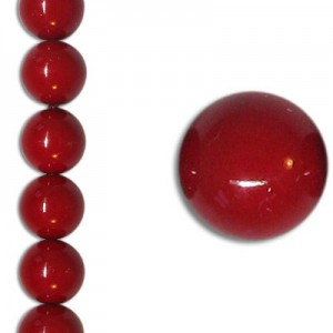 Χάντρα Glass Pearl Party Neon Dark Red 8mm ~22τεμ
