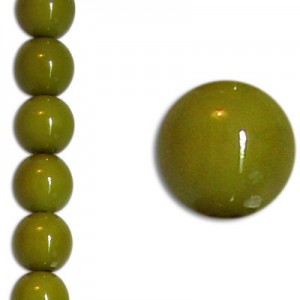Χάντρα Glass Pearl Party Olive Green 8mm ~22τεμ
