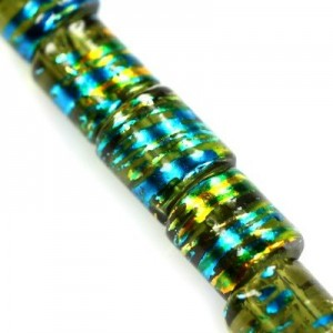 Cosmic Tube Emerald w Gold 7x8mm ~95τεμ