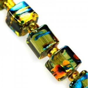 Cosmic Cube Emerald w Gold 6mm ~100τεμ