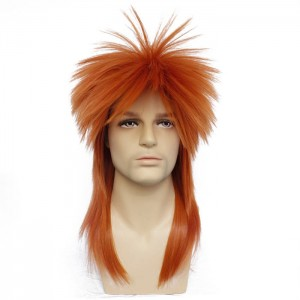 Cosplay Περούκα - 80's Rock Star - Orange 50cm