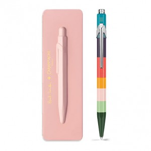 Caran d'Ache Μπλε Στυλό Διαρκείας 849 PAUL SMITH with etui Rose Pink - Limited Edition