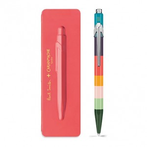 Caran d'Ache Μπλε Στυλό Διαρκείας 849 PAUL SMITH with etui Coral Pink - Limited Edition