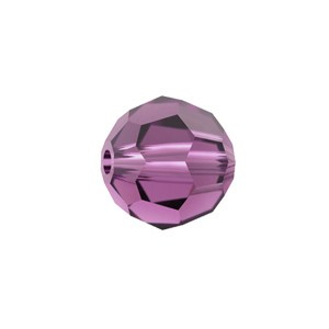 Swarovski 5000 Faceted Round Amethyst 6mm - 10τεμ