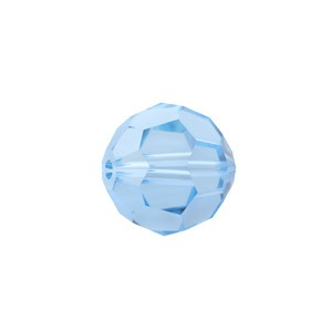 Swarovski 5000 Faceted Round Aquamarine 6mm - 10τεμ