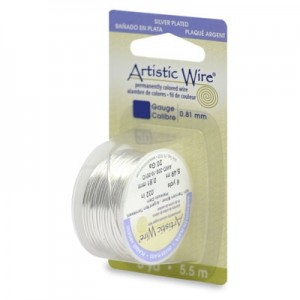 Σύρμα Artistic Wire - Ø0.26mm - Επάργυρο Tarnish Resistant Silver ~27.4m