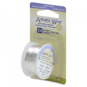 Σύρμα Artistic Wire - Ø0.51mm - Επάργυρο Tarnish Resistant Silver - 9.14m