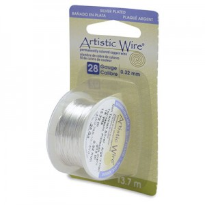 Σύρμα Artistic Wire - Ø0.32mm - Επάργυρο Tarnish Resistant Silver ~13.7m