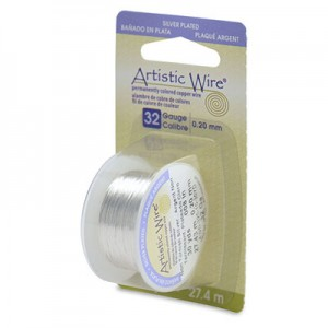 Σύρμα Artistic Wire - Ø0.20mm - Επάργυρο Tarnish Resistant Silver ~27.4m
