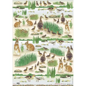 Χαρτί για decoupage 50x70cm Rabbits and Ducks