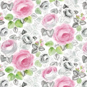 Φύλλo Polyester Felt - Rose Fantasy - 30x30cm - 1mm - 1τεμ