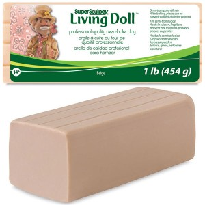 Πηλός Super Sculpey Living Doll - Beige - 454gr