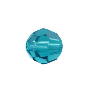 Swarovski 5000 Faceted Round Blue Zircon 6mm - 10τεμ