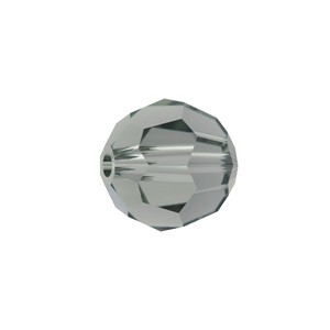 Swarovski 5000 Faceted Round Black Diamond 6mm - 10τεμ