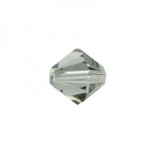 Swarovski 5328 XILION Bicone Black Diamond 8mm - 9τεμ