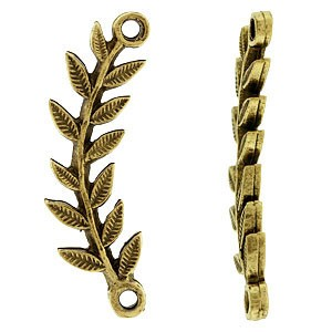 Σύνδεσμος Nunn Design - Leaf Right - 31x9mm - Antique Gold - 1τεμ