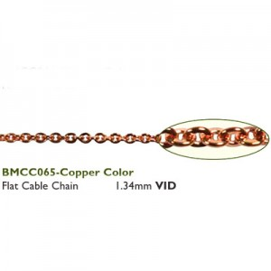 Αλυσίδα Flat 1.34mm Copper - 50cm