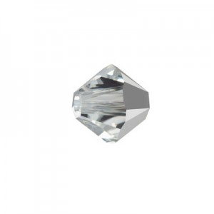 Swarovski 5328(001) XILION Bicone -Crystal Comet Argent Light- 4mm - 30τεμ