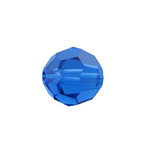Swarovski 5000 Faceted Round Capri Blue 6mm - 10τεμ