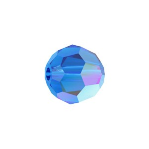 Swarovski 5000 Faceted Round Capri Blue AB 6mm - 10τεμ