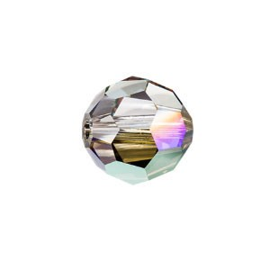 Swarovski 5000 Faceted Round Crystal Iridescent Green 4mm - 10τεμ