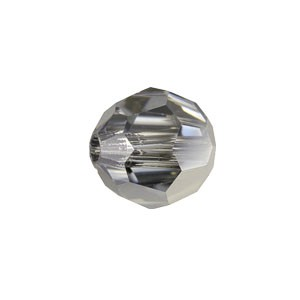 Swarovski 5000 Faceted Round Crystal Light Chrome 4mm - 10τεμ