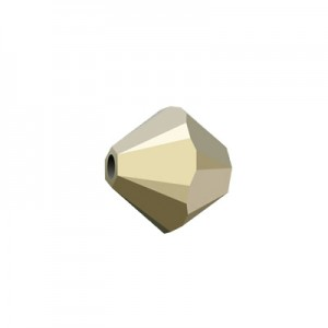 Swarovski 5328(001) XILION Bicone -Crystal Metallic Light Gold 2X- 4mm - 30τεμ