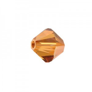 Swarovski 5328(001) XILION Bicone -Crystal Copper- 4mm - 30τεμ