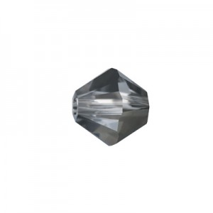 Swarovski 5328(001) XILION Bicone Crystal Silver Night 4mm - 30τεμ