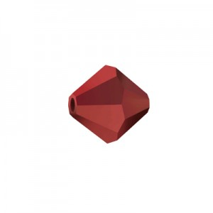 Swarovski 5328 XILION Bicone Dark Red Coral 8mm - 9τεμ