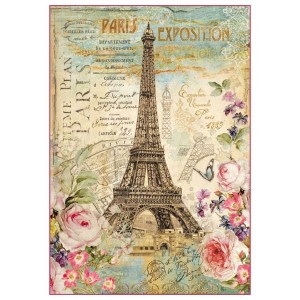 Ριζόχαρτο Stamperia - Paris Tour Eiffel - 48x33cm