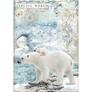 Stamperia Ριζόχαρτο για Decoupage - Artic World Polar Bears - A4