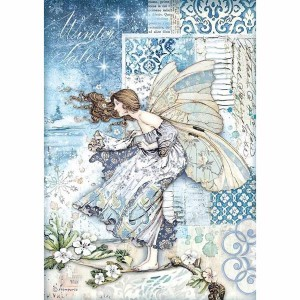 Stamperia Ριζόχαρτο για Decoupage - Fairy In The Wind - A4