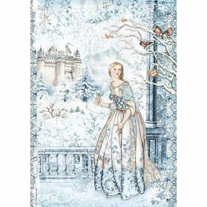 Stamperia Ριζόχαρτο για Decoupage - Fairy In The Snow - A4