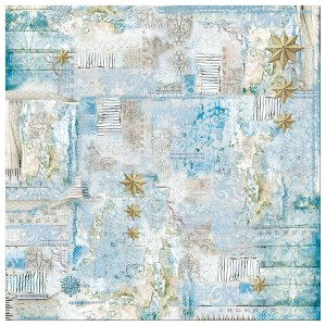 Ριζόχαρτο Stamperia Napkin - Blue Star little Stars - 50x50cm