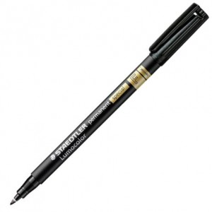 Μαρκαδόρος Ανεξίτηλος Staedtler Lumocolor Permanent Special Fine 0.6mm - Black