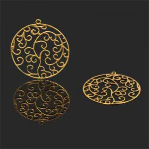 Διακοσμητικό 18K Forever Gold Filigree Medallion 30mm - 1τεμ
