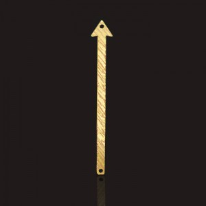 Διακοσμητικό 18K Forever Gold Arrow Bar 2 Hole Brushed Finish 8x55mm - 1τεμ