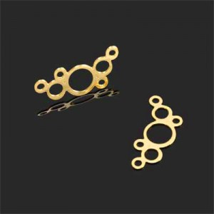 Σύνδεσμος 18K Forever Gold Bubbles 10x20mm - 2τεμ