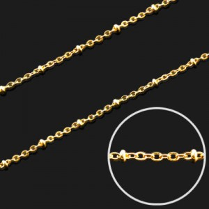 Αλυσίδα Fancy 18K Forever Gold 2x1.5mm - 1m