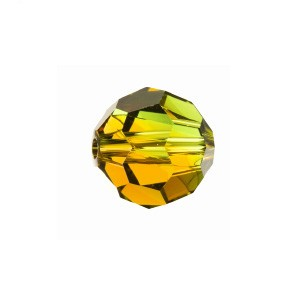 Swarovski 5000 Faceted Round Fern Green-Topaz Blend 8mm - 6τεμ