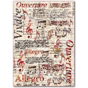 Φύλλo Polyester Felt - 50x70cm - Music - 1mm - 1τεμ