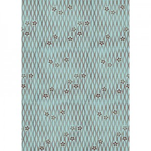 Φύλλo Polyester Felt - 50x70cm - Texture On Turquoise Background - 1mm - 1τεμ