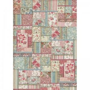Stamperia Ριζόχαρτο για Decoupage - Flower Patchwork - A3
